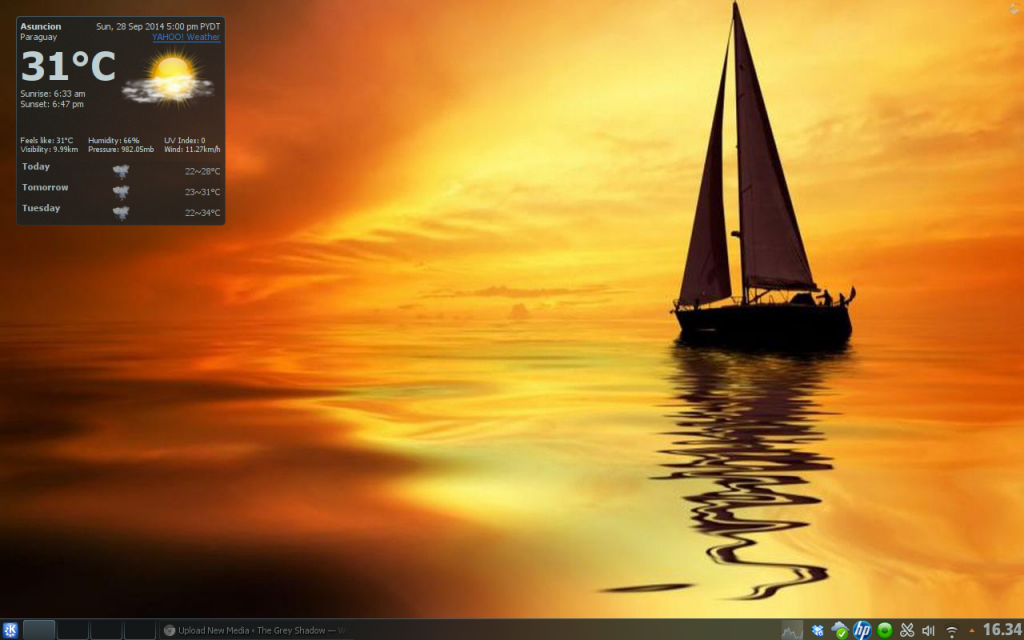 screenshot of KDE 4.14 desktop
