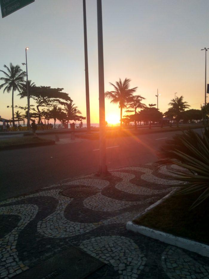 Sunset at Barra de Tijuca beach, Rio de Janeiro